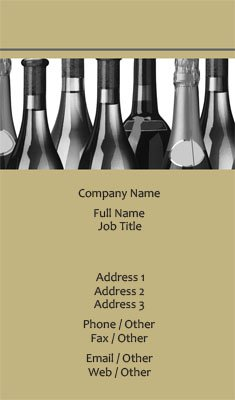 Beige Wine Bottles Business Card Template